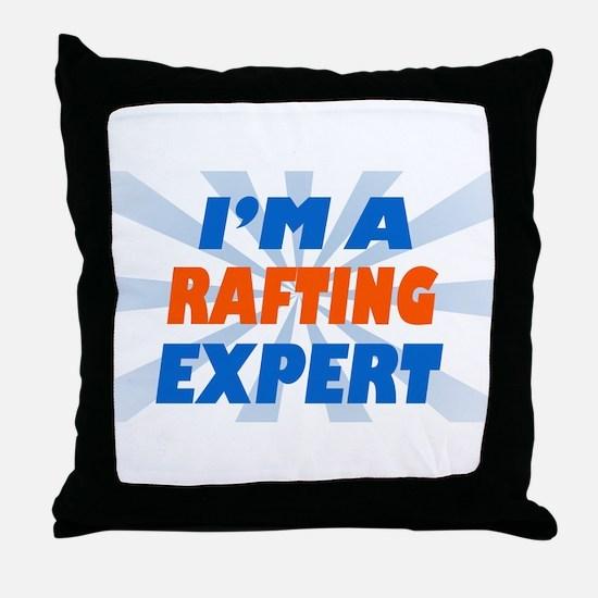 im a rafting expert Throw Pillow