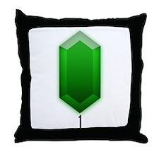 Green Rupee (1) - Throw Pillow