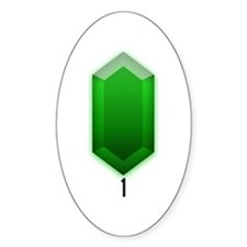 Green Rupee (1) - Oval Decal