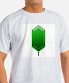Green Rupee (1) - Ash Grey T-Shirt