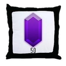 Purple Rupee (50) - Throw Pillow