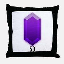 Purple Rupee (50) - Throw Pillow