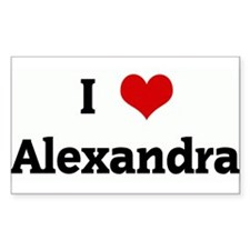 I Love Alexandra Rectangle Decal