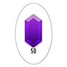 Purple Rupee (50) - Oval Decal