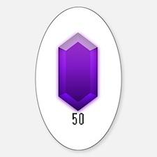 Purple Rupee (50) - Oval Decal