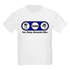 Eat, Sleep, Mountain Bike  Kids T-Shirt