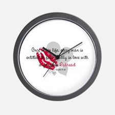 Redhead Quote Wall Clock