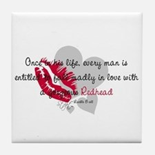 Redhead Quote Tile Coaster