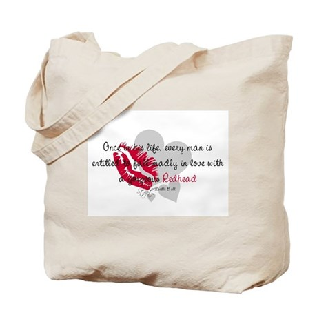 Redhead Quote Tote Bag
