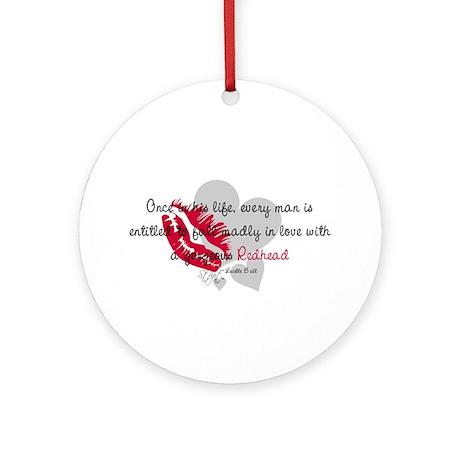 Redhead Quote Ornament (Round)