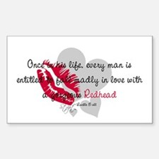Redhead Quote Rectangle Decal