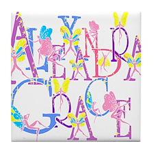 ALEXANDRA GRACE (faries) Tile Coaster