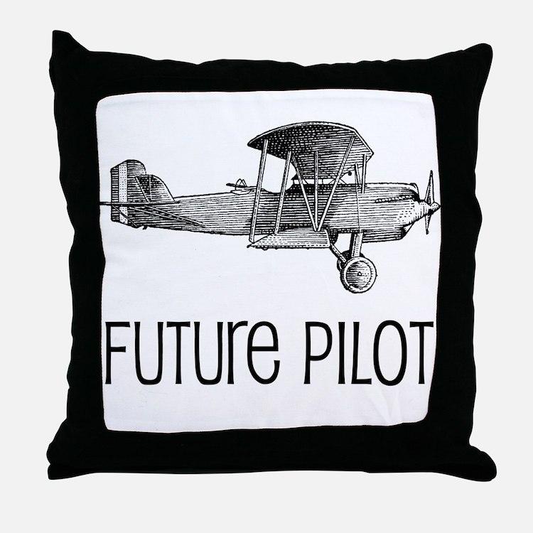 Future Pilot Throw Pillow