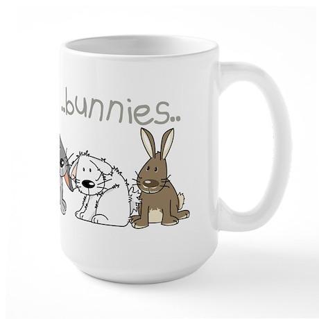 Cute bunnies Large Mug