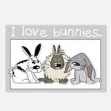 Cute bunnies Postcards (Package of 8)