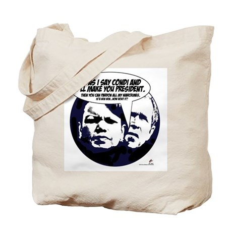 Bush and Condi, agenda. Tote Bag