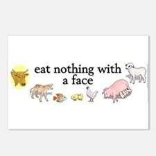 eat nothing with a face Postcards (Package of 8)