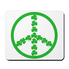 Peace symbol Irish Mousepad