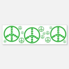 Peace symbol Irish Bumper Bumper Bumper Sticker