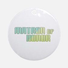Coastal Matron of Honor Ornament (Round)