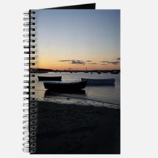 Maine Dinghy Boat Sunset Journal