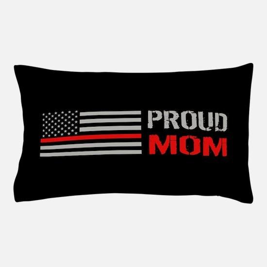 Firefighter: Proud Mom (Black) Pillow Case