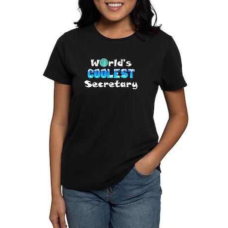 World's Coolest Secre.. (A) Women's Dark T-Shirt