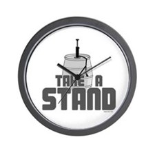 Take a Stand Wall Clock