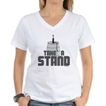 Take a Stand Women's V-Neck T-Shirt