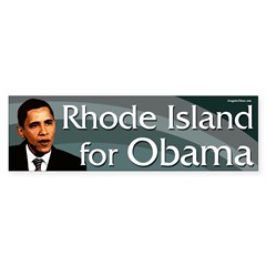 Rhode Island for Obama bumper sticker