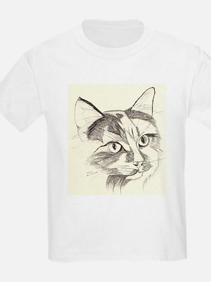 calico kitty Kids T-Shirt
