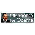 Oklahoma for Obama bumper sticker