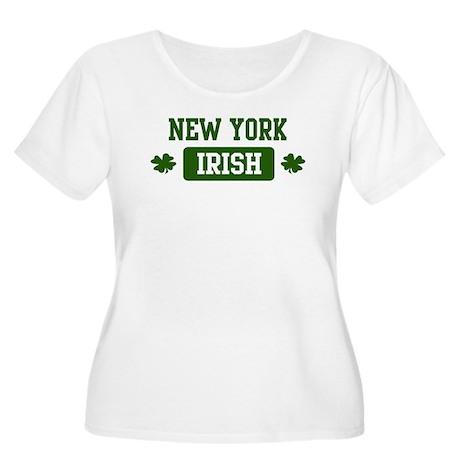 New York Irish Women's Plus Size Scoop Neck T-Shir