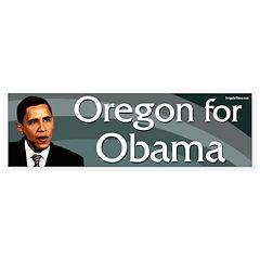 Oregon for Barack Obama bumper sticker