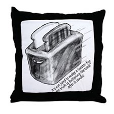 The Flying Toaster Throw Pillow