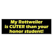 Cuter Rottweiler Bumper Bumper Sticker