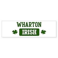 Wharton Irish Bumper Car Sticker