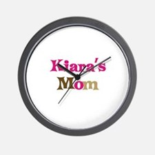 Kiara's Mom Wall Clock