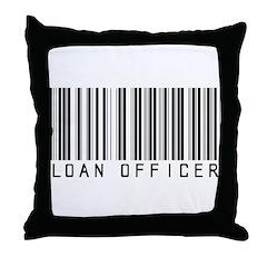 Loan Officer Barcode Throw Pillow