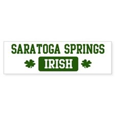 Saratoga Springs Irish Bumper Bumper Sticker