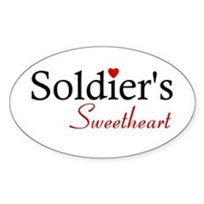 Soldier's Sweetheart Oval Decal