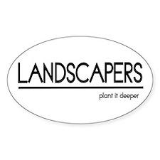 Landscaper Joke Oval Decal