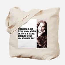 "Wilde ""Selfishness"" Tote Bag"