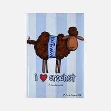 i love crochet Rectangle Magnet
