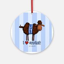 i love crochet Ornament (Round)