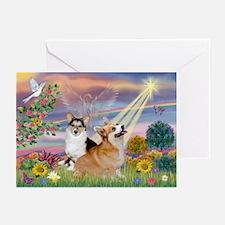 Cloud Angel Welsh Corgi Greeting Cards (Pk of 10)