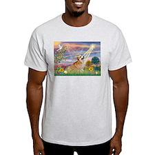 Cloud Angel Welsh Corgi T-Shirt