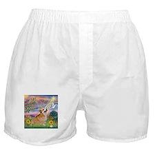 Cloud Angel Welsh Corgi Boxer Shorts