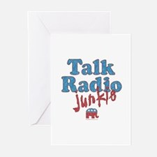 Talk Radio Junkie Greeting Cards (Pk of 10)