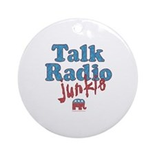 Talk Radio Junkie Ornament (Round)